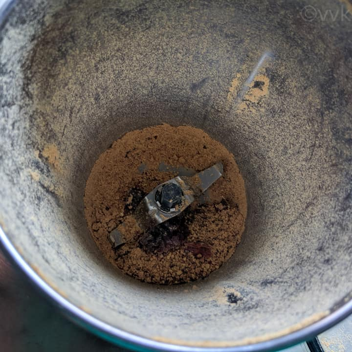 grinding the lentils first