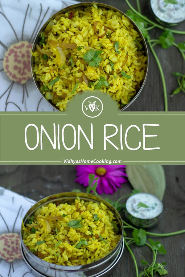 Onion Rice Vengaya Saadam collage