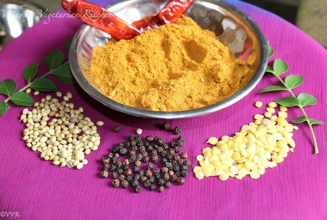Homemade Rasam Podi/Powder