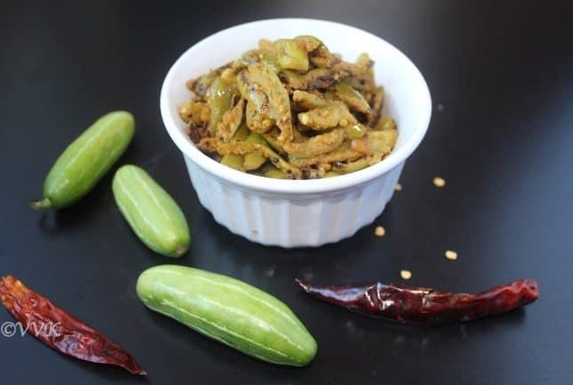 Kovaikkai/Ivy gourd/Tindora curry