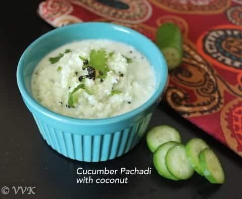 Cucumber Curd Raita   Vellarikai Thayir Pachadi