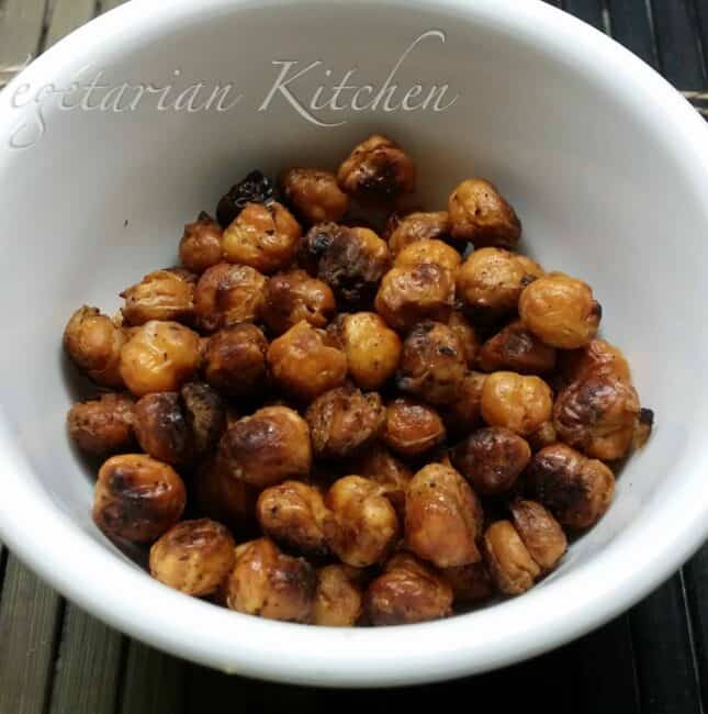 Baked Garbanzo beans – Crunchy snack