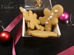 Eggless Ginger bread cookies