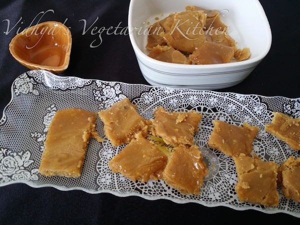 Microwave Mysore Pahu thins