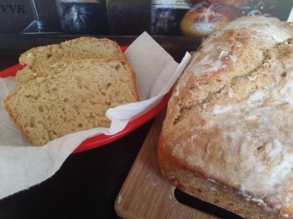 No Knead Wheat Bread