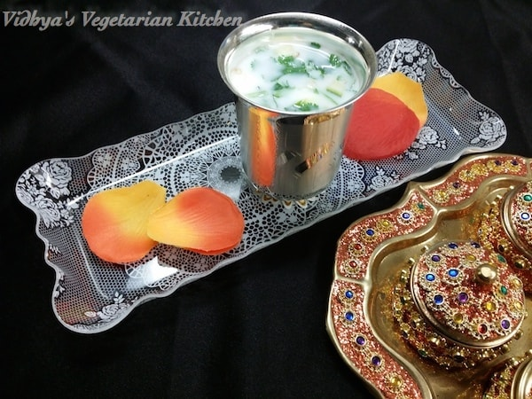 Ugadi Specials – Neer Mor  (Seasoned butter milk)
