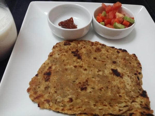 Brussels Sprout Paratha