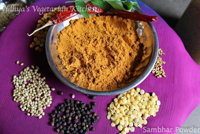 Homemade Sambhar Powder | Sambar Podi