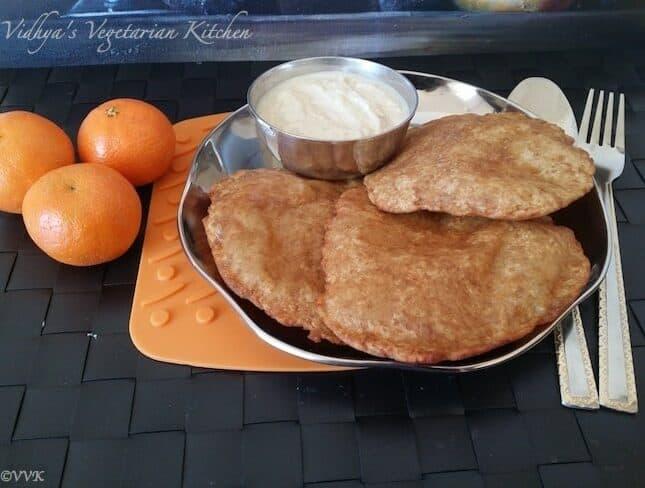 Bhoplyachi ghari/ gharge – Red Pumpkin Sweet Puri ~ Maharashtrian Special