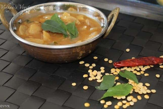 Slow Cooker Red Radish Sambhar