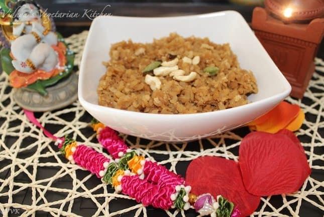 Vella Aval / Sweet Poha for Krishna Jayanthi