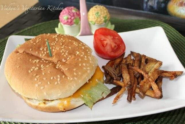 Baked Portobello Mushroom Burger