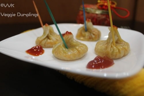 Veggie Dumplings with Wanton Wraps
