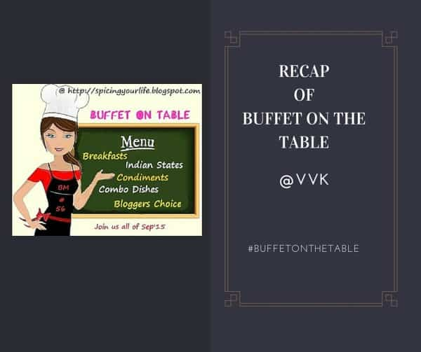 A Recap of Buffet On Table