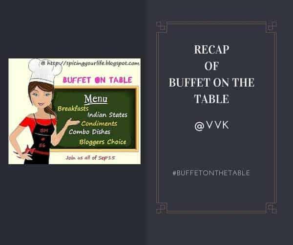 A Recap of Buffet On Table