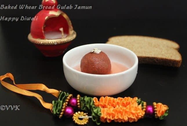 Baked Wheat Bread Gulab Jamun