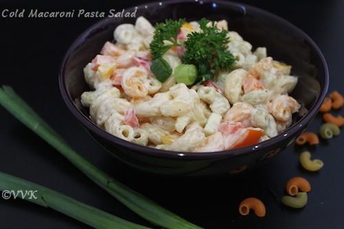 Cold Macaroni Pasta Salad