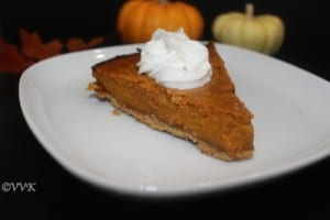 Eggless Pumpkin Pie With Good Day Biscuit Crust | Vidhya's ...