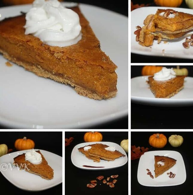 Eggless Pumpkin Pie With Good Day Biscuit Crust