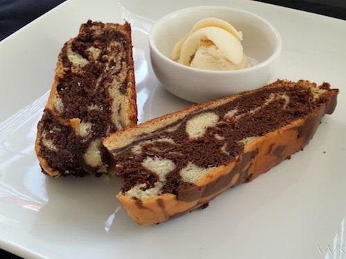 Eggless Zebra Cake / Vanilla cocoa cake