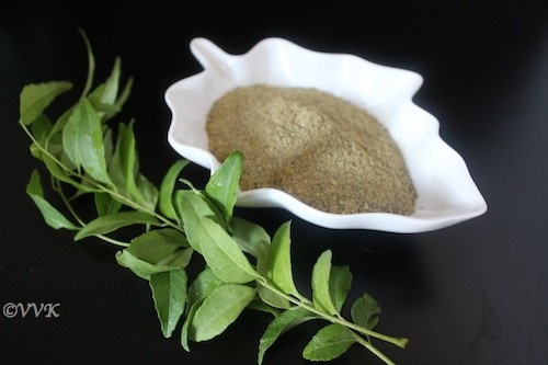 Karuveppilai Podi / Curry leaves Powder for Rice