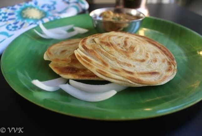 Eggless Parotta | Malabar Style Parotta