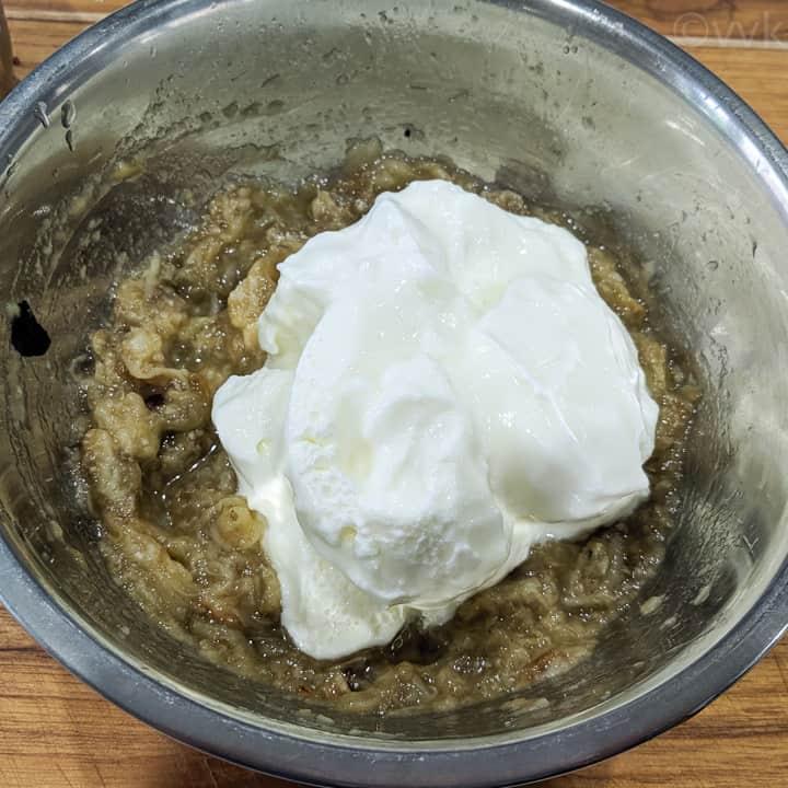 adding yogurt