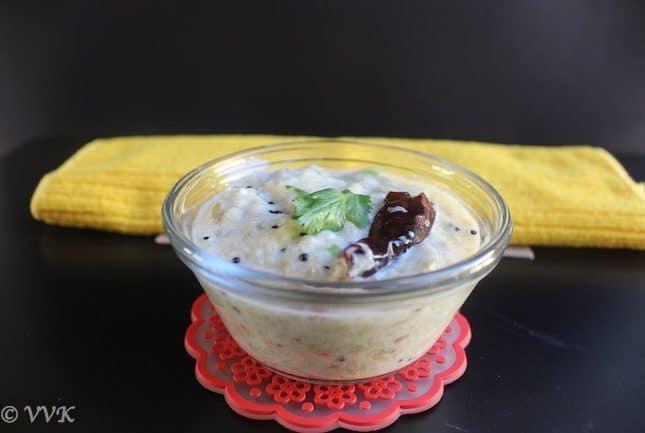 Broiled Eggplant Raita   Sutta Katharikai Pachadi