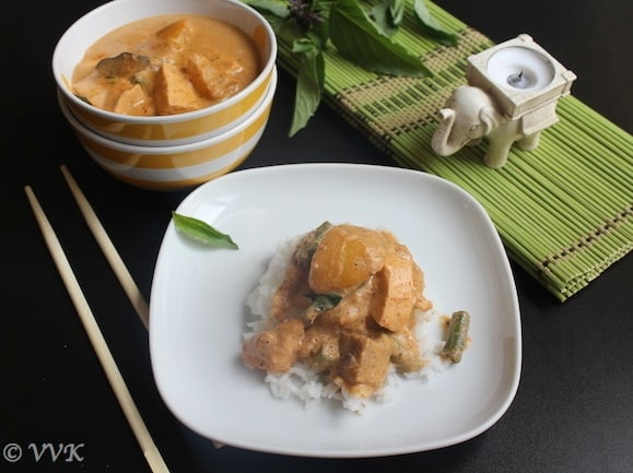 Vegetarian Thai Red Curry With Tofu