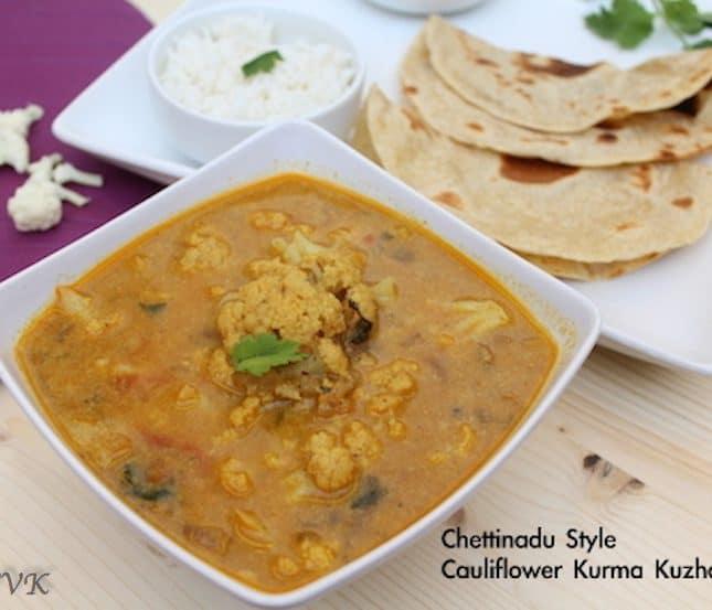 Cauliflower Kurma Kuzhambu | Chettinad Style