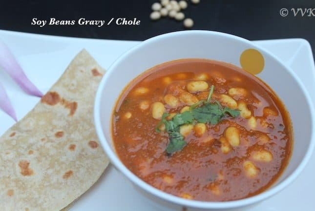 Soy Beans Chole | Soy Beans Gravy