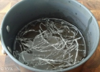 China grass soaked in water