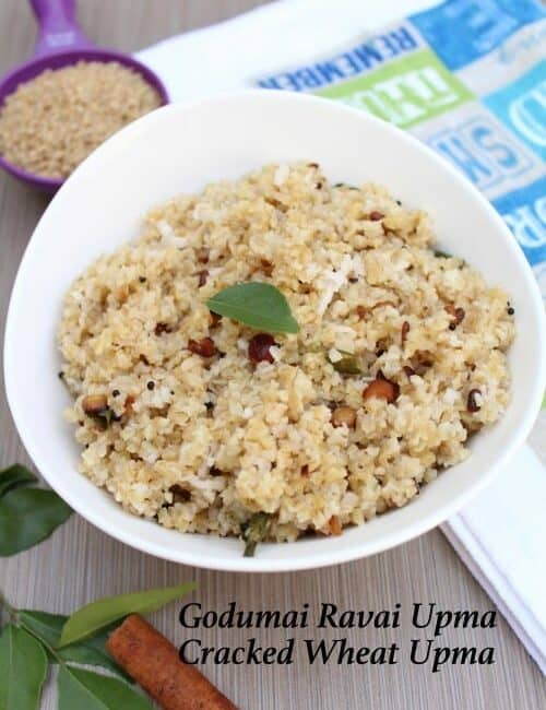 Godumai Ravai Upma | Cracked Wheat Upma