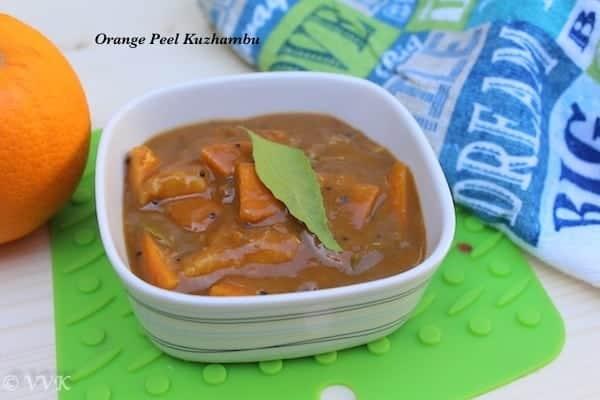 Orange Peel Kuzhambu / Pachadi / Gojju