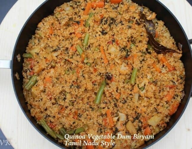 Quinoa & Vegetable Dum Biryani | Tamil Nadu Style