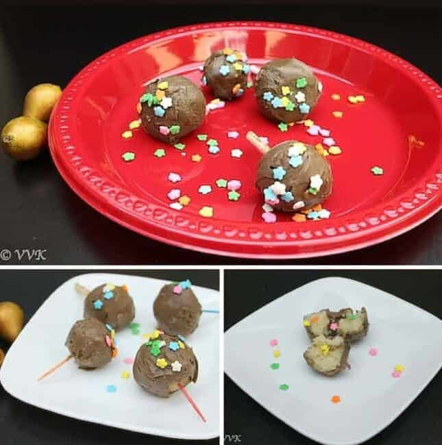 Cake Pops Using 1 Minute Microwave Eggless Cakes