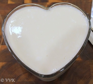 Refrigerated panna cotta straight out of the fridge