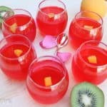 Homemade Rose Syrup Jelly With China Grass recipe image