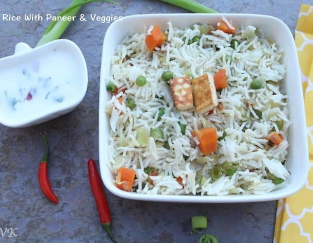 Ghee Rice with Veggies and Paneer | Ghee Bhath