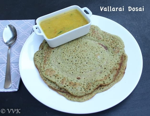 Vallarai Keerai Dosai | Indian Pennywort Dosa