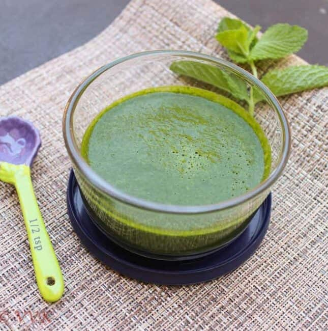 Green Chutney For Chaat | Mint and Cilantro Chutney