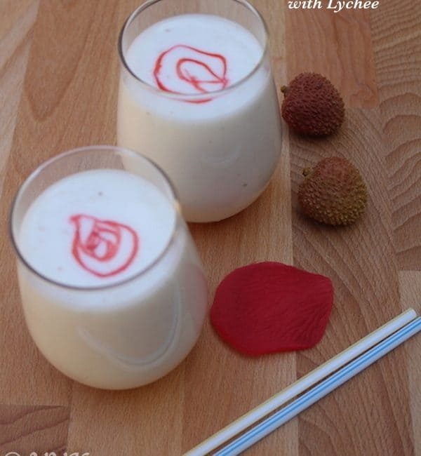 Nungu/Ice Apple Lassi with Lychee