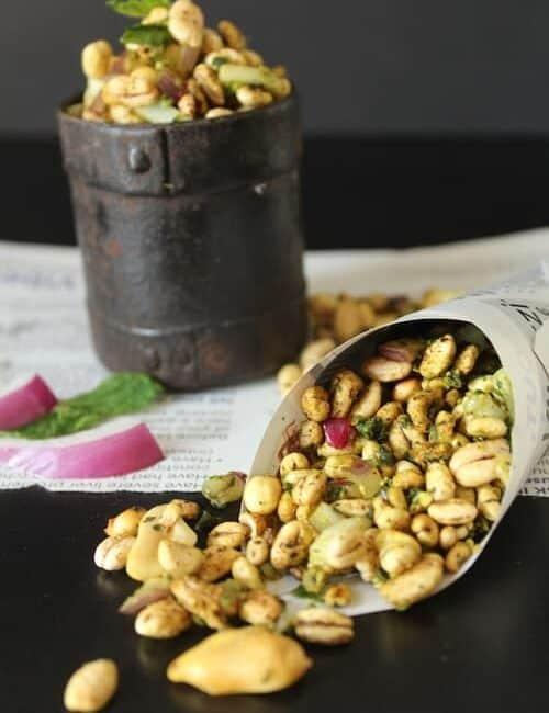 Sukha Bhel with Barley Puffs | Zero Oil Recipe