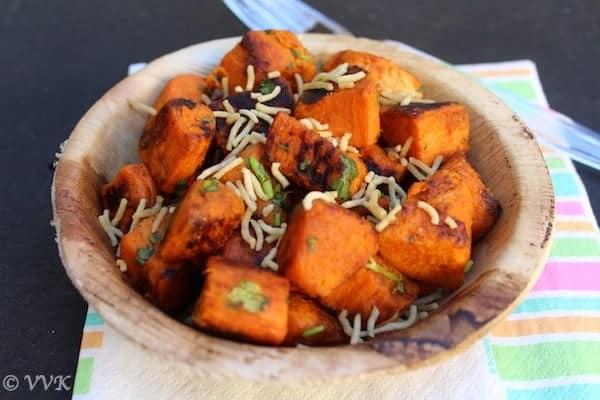 Sweet Potato Chaat   Shakarkandi ki Chaat