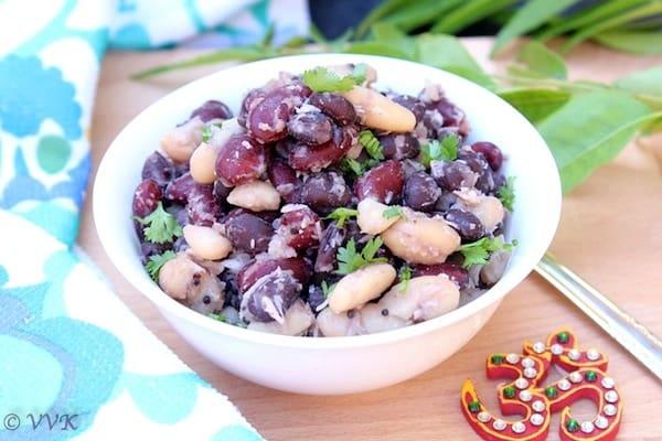 Tri Color Tri Beans Sundal | Navratri Special