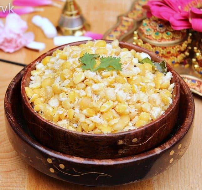 Kadalai Paruppu Sundal | Channa Dal Sundal