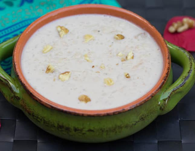Instant Pot Rice and Walnut Kheer | Instant Pot Recipes