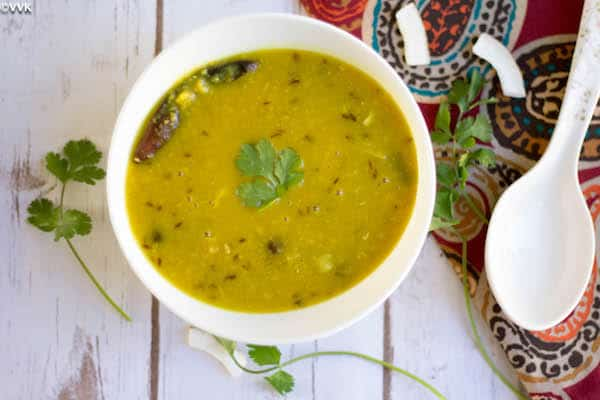 Instant Pot Bengali Dal ready and served