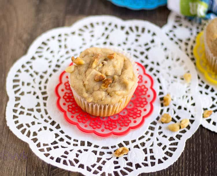 Eggless Apple Walnut Muffins