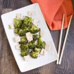 Overhead on the healthy and delicious Instant Pot Broccoli Tofu Stir Fry